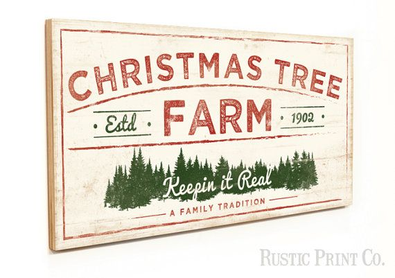 Christmas Tree Farm Sign Wood Holiday Sign Rustic Art On A