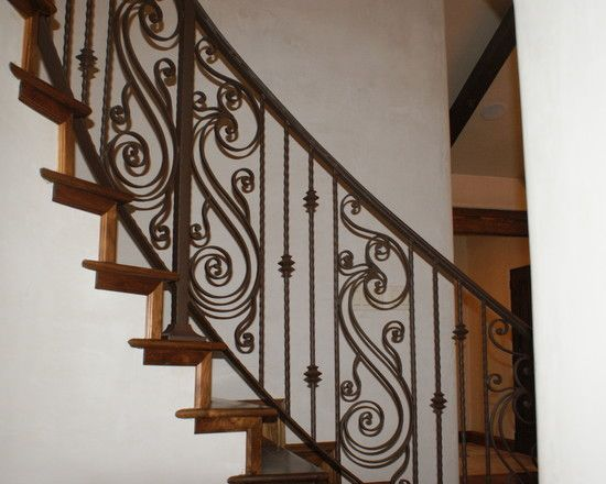 Iron Hand Railing Decor For Clic Interior Accent Lovely Mediterranean Staircase With Dropddesign Exterior Design Inspiration