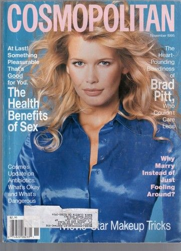 November 1995 cover with Claudia Schiffer photographed by the late Francesco Scavullo