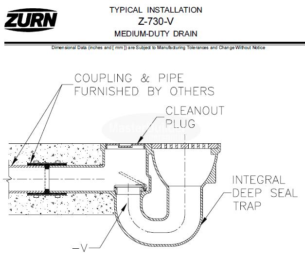 Zurn Z730 9 Quot Medium Duty Top Drain W Integral Double Wall