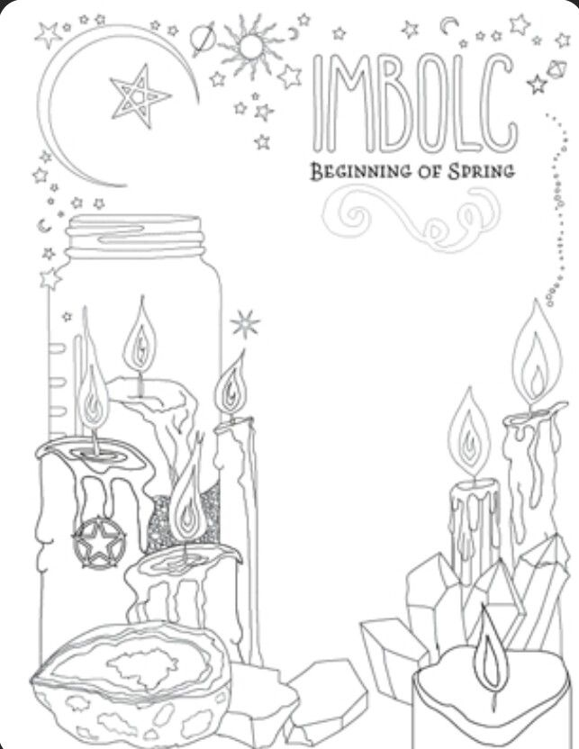 Bos Page Magickbohemian Witch Coloring Pages Book Of