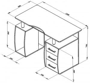 Escritorio para computadora medidas pinterest for Medidas estandar de escritorios de oficina