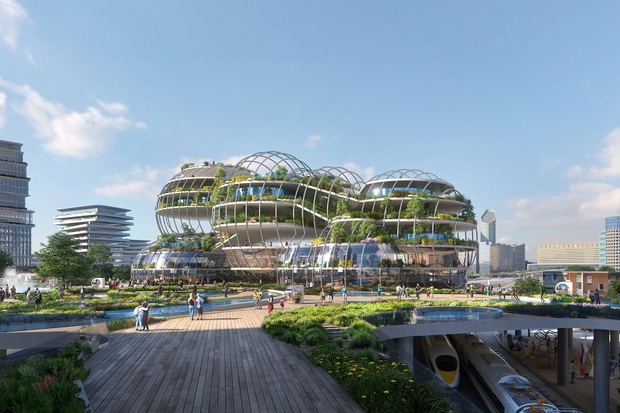 UNStudio. Central Innovation District. Hague, Netherlands