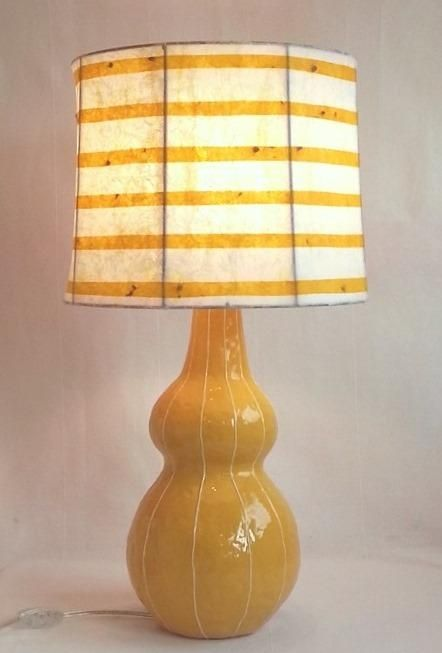 Vit ceramic lamp base with rice paper lamp shade by designer and vit ceramic lamp base with rice paper lamp shade by designer and artist kristin nelson aloadofball Image collections