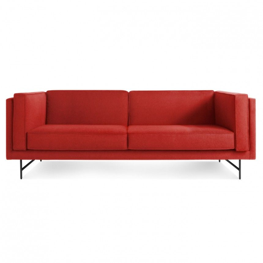 "Bank 80"" Sofa - Brick-Metal"
