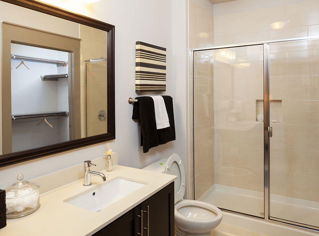 Model Bathroom At Amli On Maple Luxury Apartments In Uptown Dallas Bathroom Design Inspiration Bathroom Remodel Cost Bathroom Model