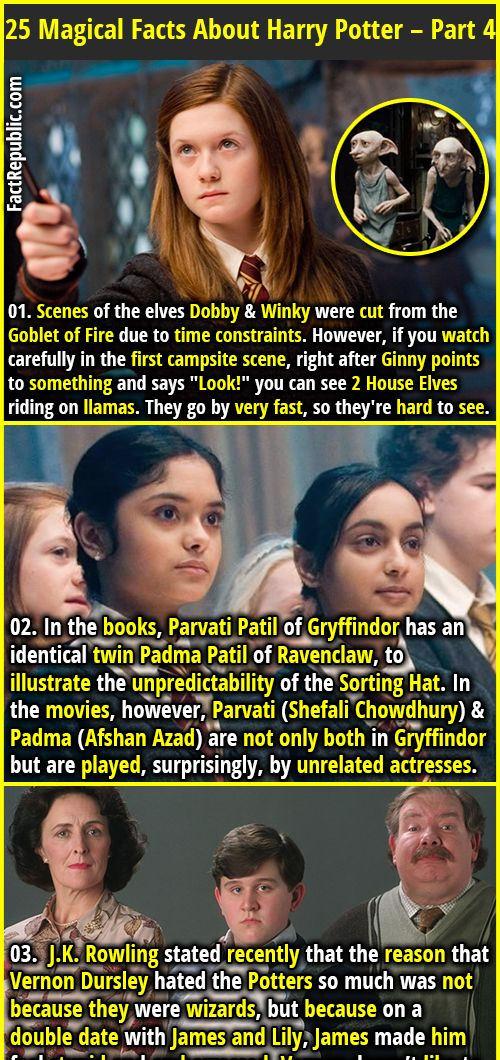 25 Magical & Mysterious Facts About Harry Potter - Part 4 | Fact Republic