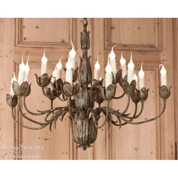 Italian antiques antique italian chandeliers tuscan tulip italian antiques antique italian chandeliers tuscan tulip chandelier inessa aloadofball Image collections
