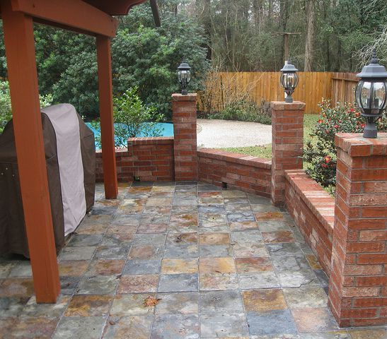 Beautiful Outdoor Tile Patio Slate