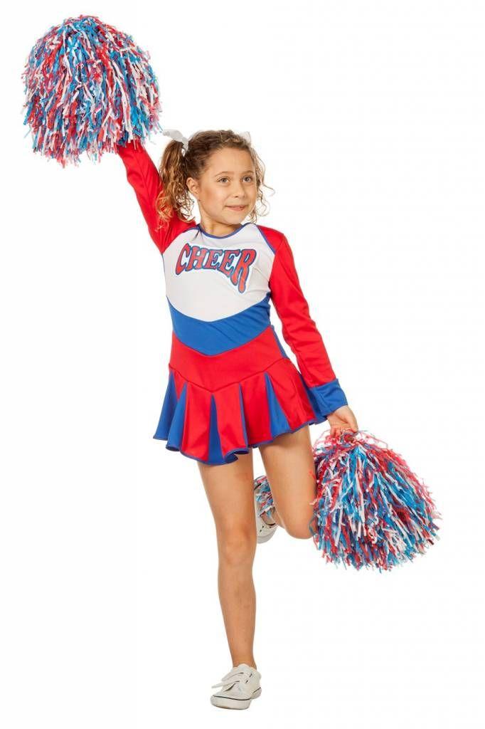Cheerleader Jurkje Kind Rood Wit Blauw Blauw Rood Wit Blauw Kind