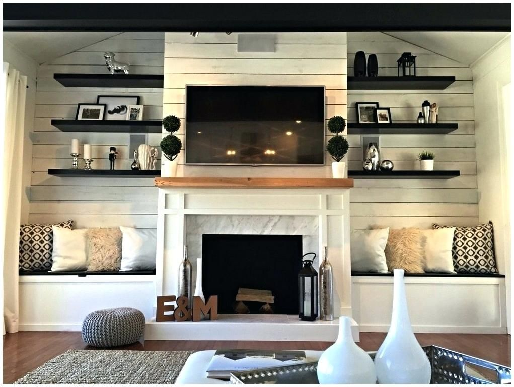 Built Ins Around Fireplace Fireplace With Built Ins On Each Side