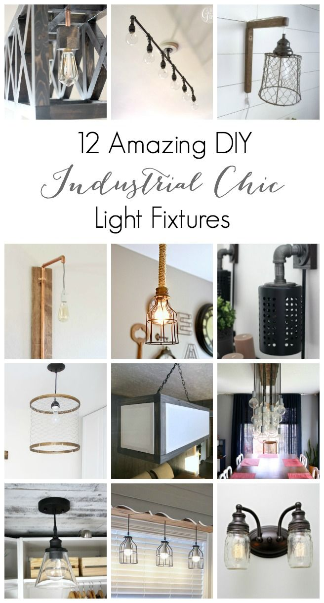 amazing chic industrial light fixtures. 12 Amazing DIY Industrial Chic Light Fixtures  chic
