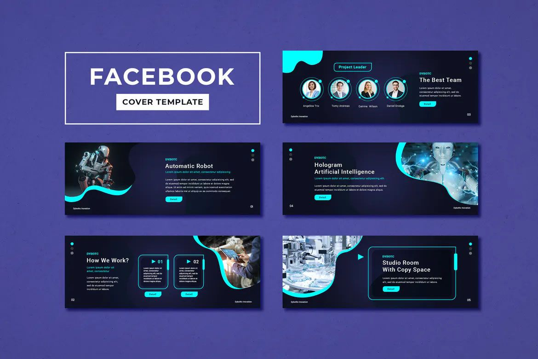 Facebook Cover Template Technology Facebook Cover Template Facebook Cover Design Creative Facebook Cover