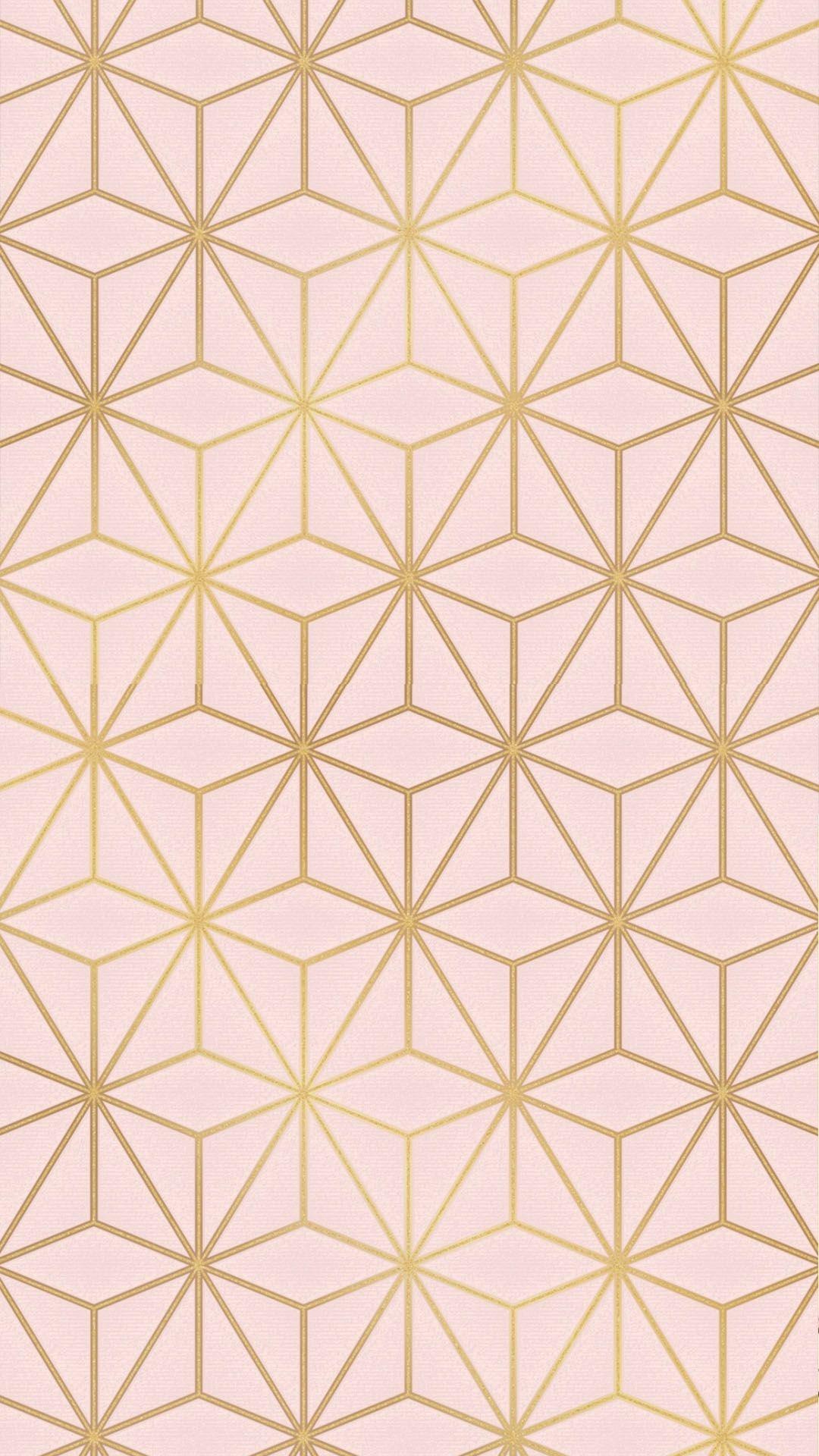 Astral Metallic Wallpaper Blush Pink Gold Barbie Diy
