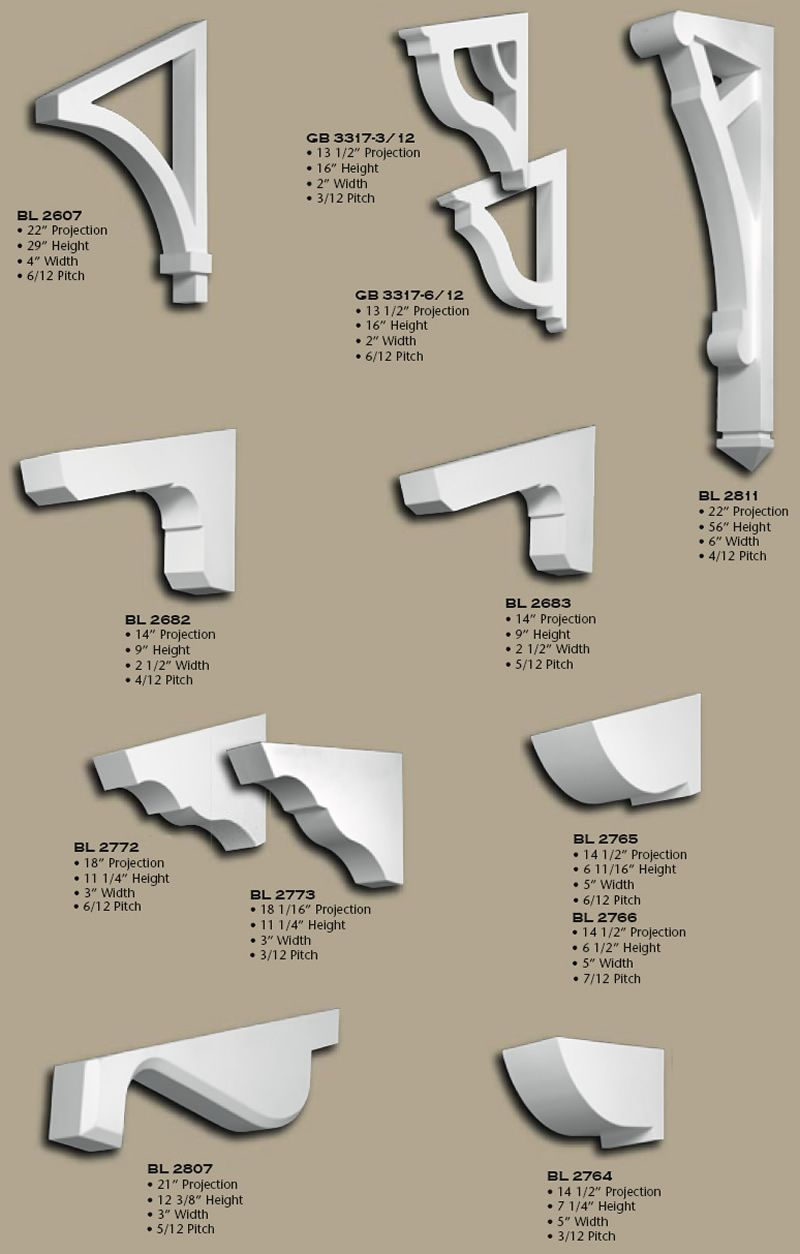 Polyurethane angled eave brackets dream house portfolio for Craftsman style brackets
