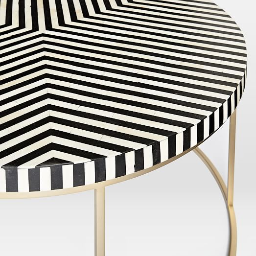 Striped Bone Inlay Coffee Table | West Elm