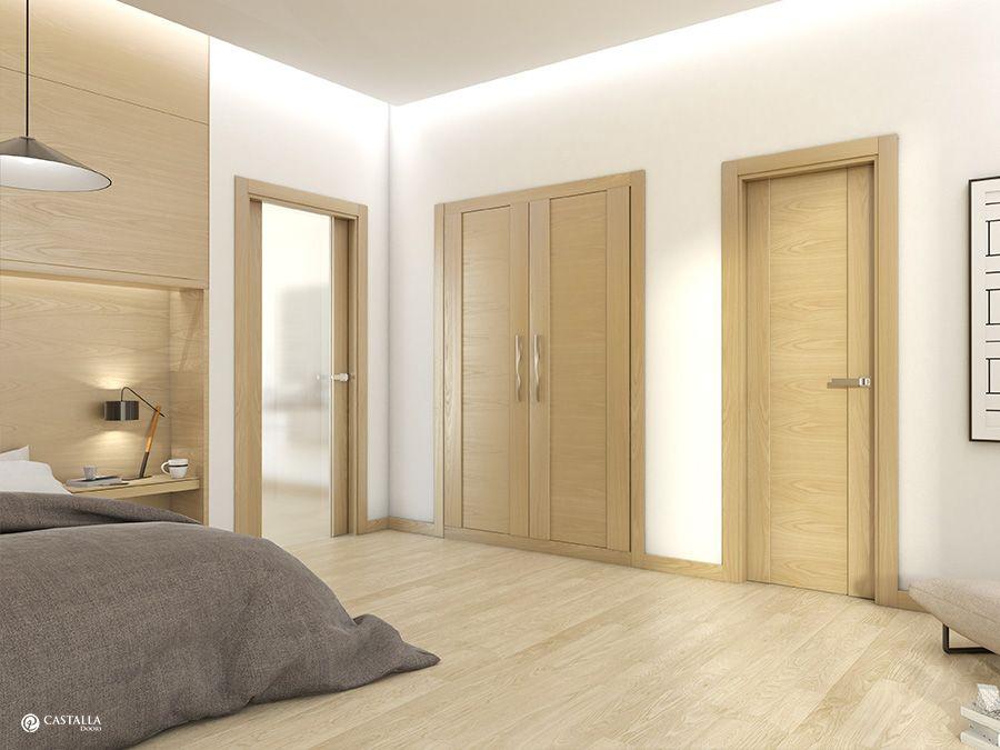 Inspiraci n interiorismo y decoraci n puerta interior for Modelos de puertas de madera para interiores
