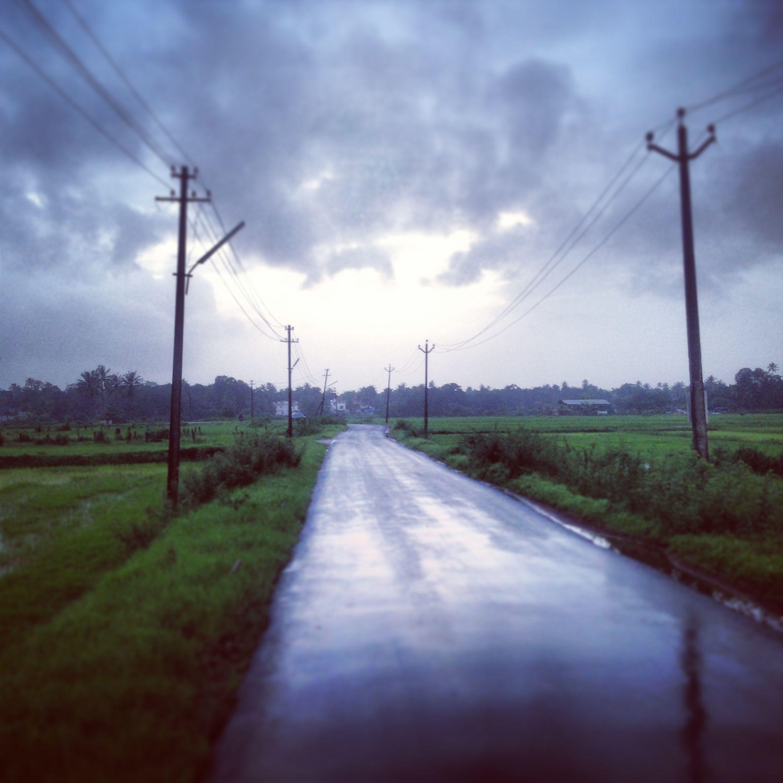 goa; rainy ride to my mentor's studio.