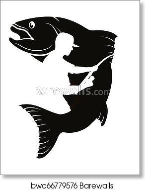 Fish And Fisherman Silhouette Fish Silhouette Silhouette Art Fish Art