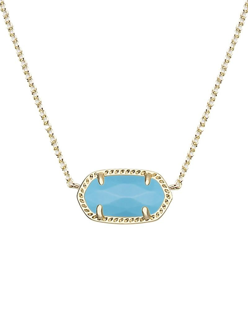 Elisa gold pendant necklace in turquoise kendra scott jewelry