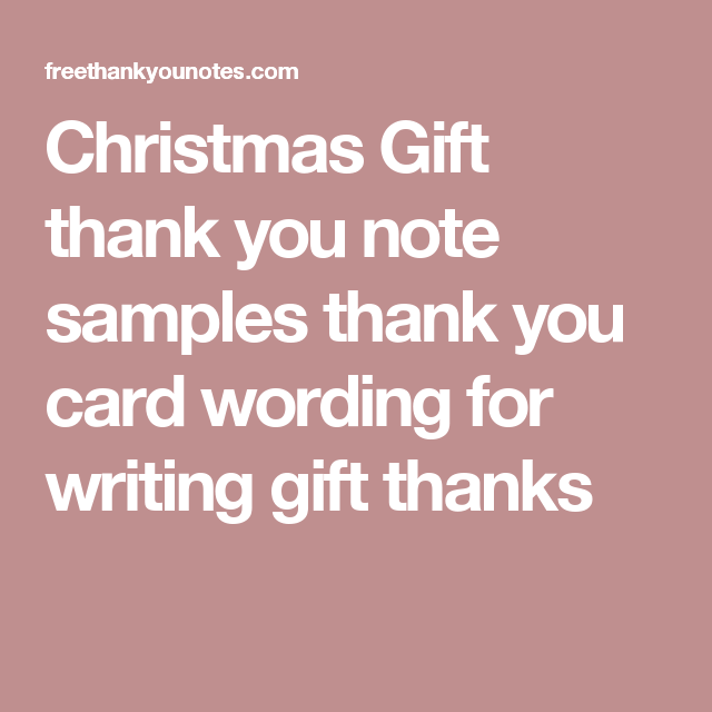 christmas gift thank you note samples thank you card