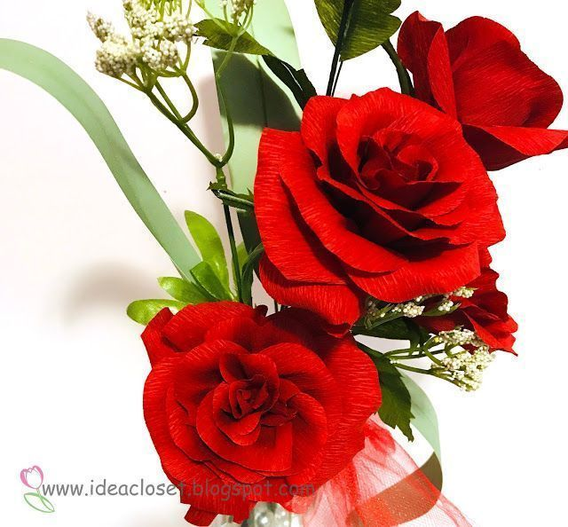 Crepe Paper Roses #crepepaperroses Crepe Paper Roses | Idea Closet.  Make Crepe Paper Roses for Valentine's Day.  #cricutmaker, #cricutmade, #crepepaperflowers, #3dflowers, #paperflowers, #ideacloset #valentienflowers, #valentines #Roses #crepepaperroses Crepe Paper Roses #crepepaperroses Crepe Paper Roses | Idea Closet.  Make Crepe Paper Roses for Valentine's Day.  #cricutmaker, #cricutmade, #crepepaperflowers, #3dflowers, #paperflowers, #ideacloset #valentienflowers, #valentines #Roses #crepep #crepepaperroses
