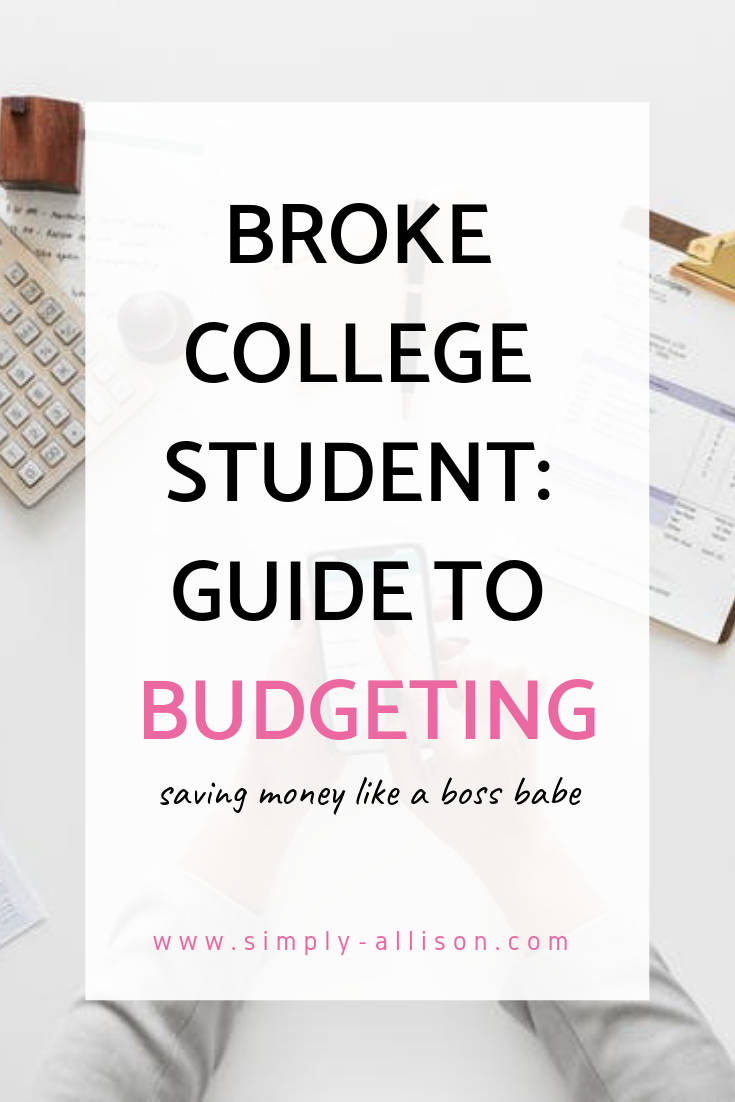 Broke College Student Guide to BudgetingThis is to help all my fellow college students who need help with saving money and budgeting