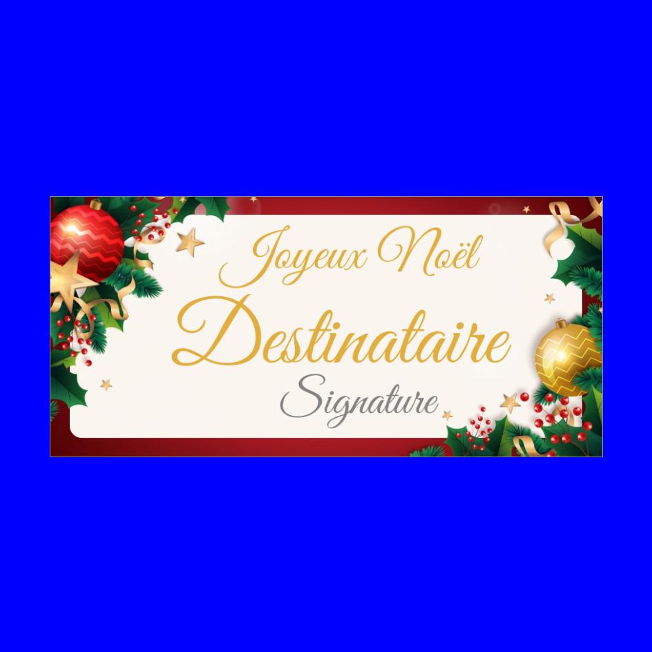 Carte de vœux noel à imprimer personnalisable avec une liste de