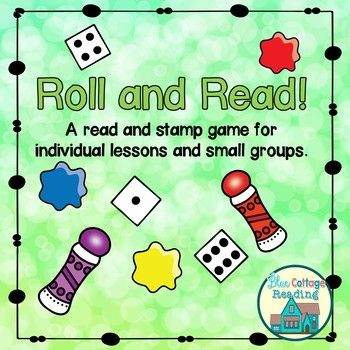 """Simply print the desired board, grab some dot markers or crayons and a die and you are all set.This set includes 9 black and white printable game boards for a quick and easy game that we call """"Roll and Read"""" in our classes. Boards: 1. A blank game board 2."""