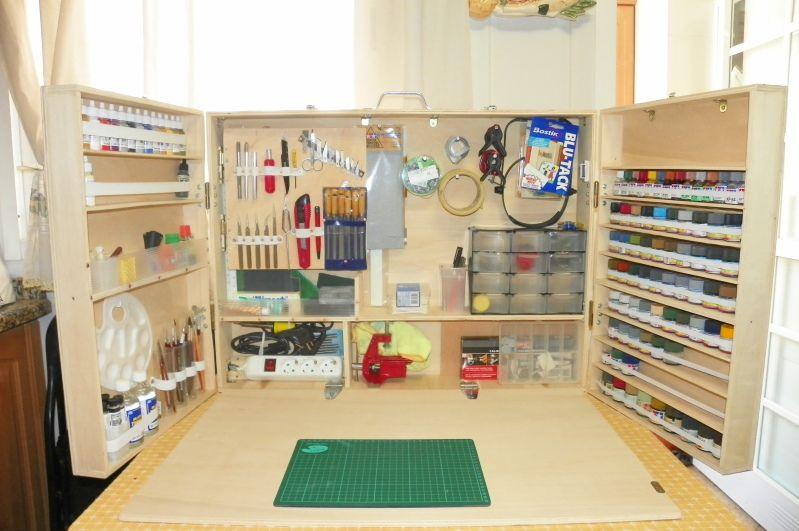 Yoryi puntocom modelismo y maquetas mi maleta taller for Guarda herramientas para jardin