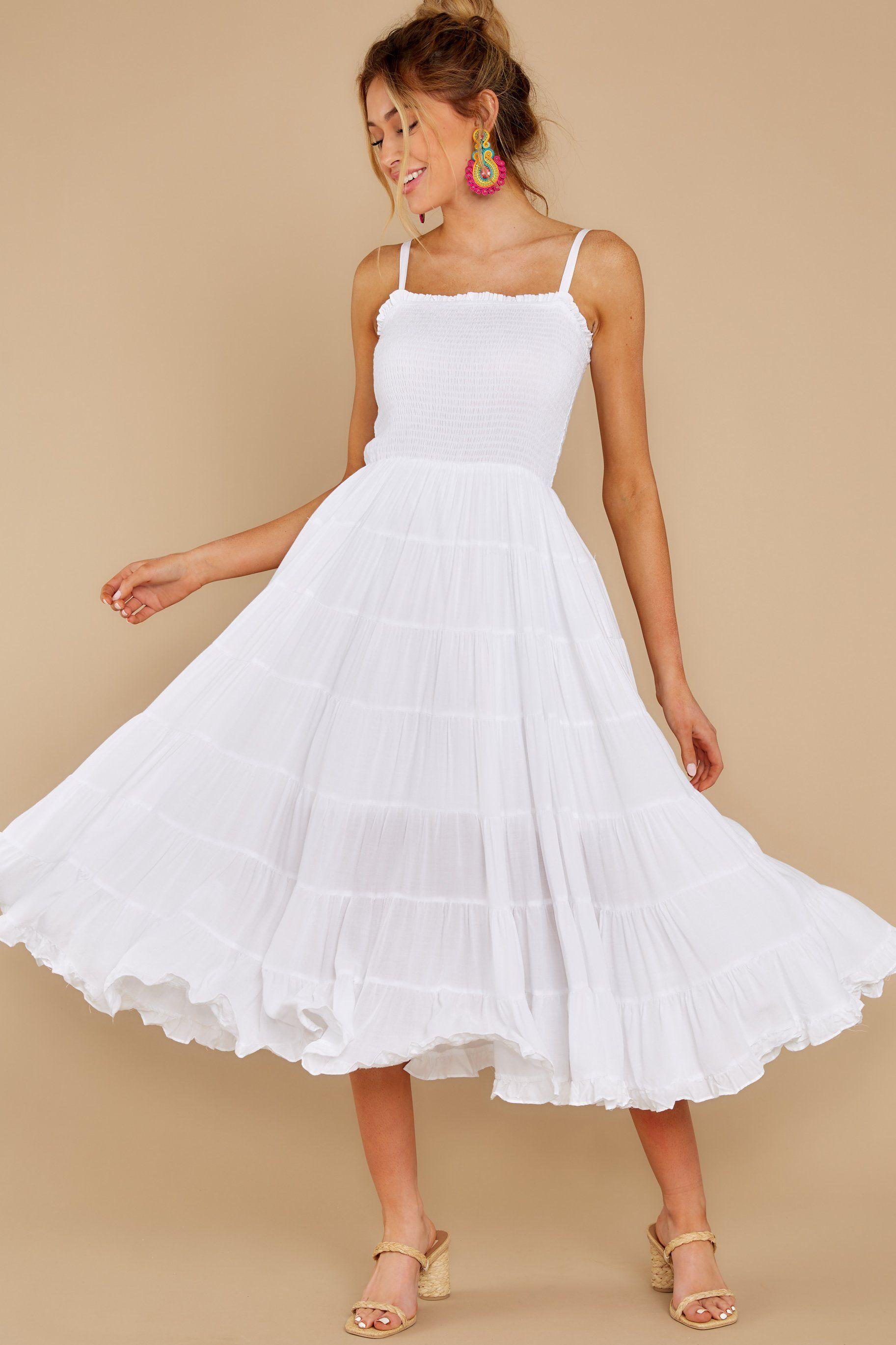 Something To Say White Midi Dress In 2020 White Midi Dress Red Midi Dress Midi Dress