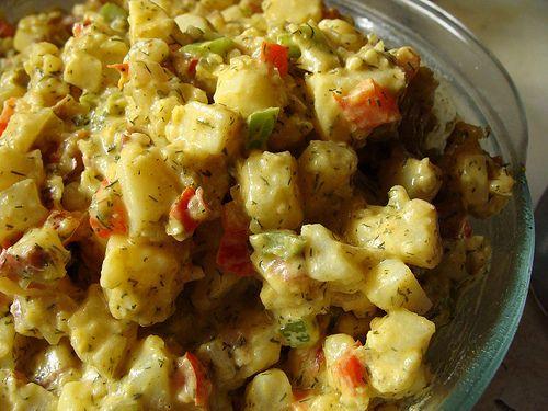 Curried Potato Salad, detail #vegan