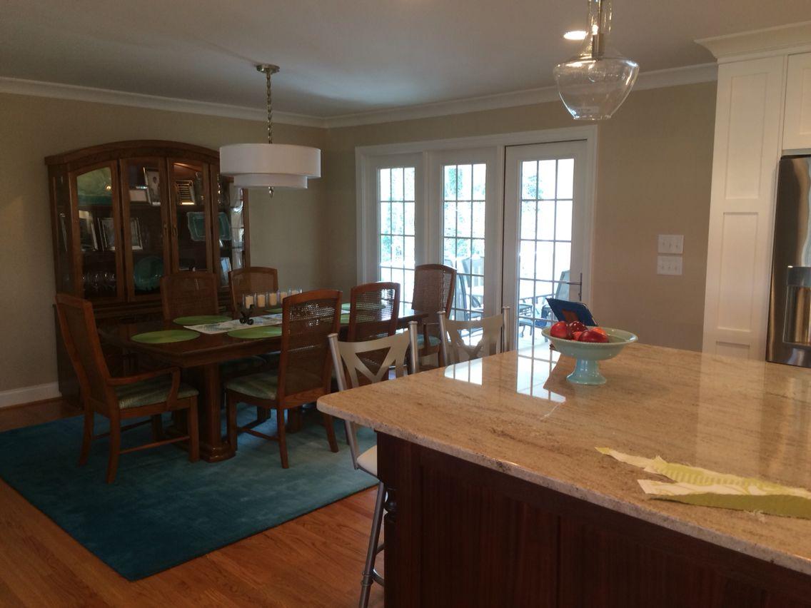 Photo of dining room of split foyer remodel. | White ...