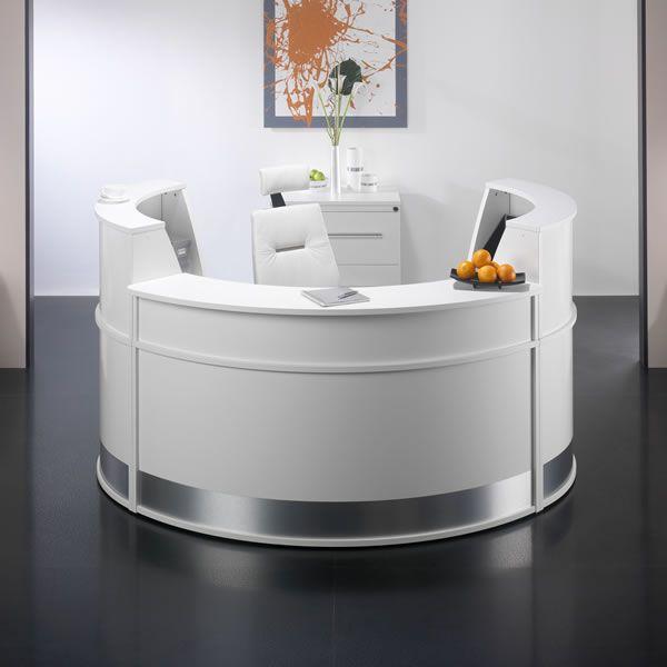 C Shape Acrylic Marble Reception Counter Half Round Acrylic
