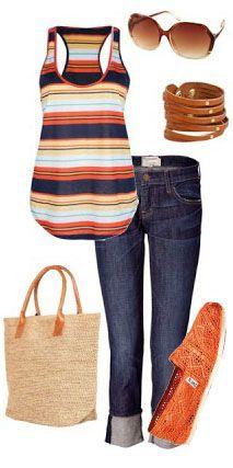 Casual  Sapatilha+jeans+regata= descontraído chic