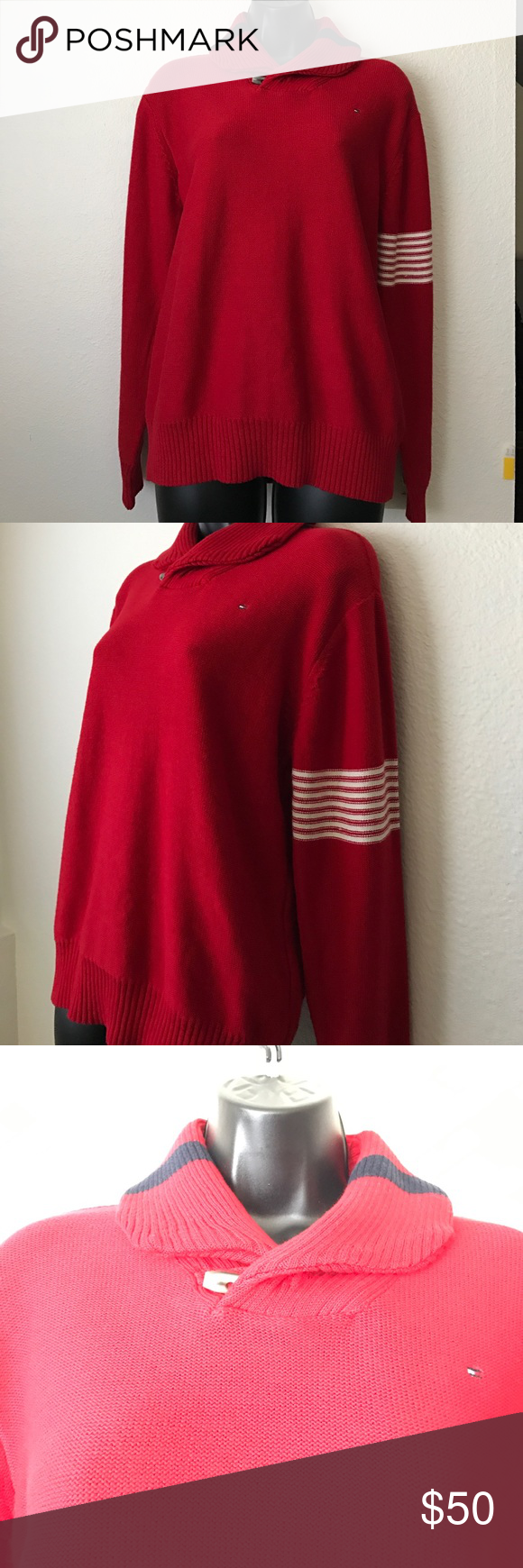 Tommy Hilfiger Vintage Turtleneck Sweater Size L 💕Tommy Hilfiger Vintage Turle Neck Sweater Size L NWT💕 💕Size: L💕 💕Fabric: 100% Cotton💕 💕NWT & Never Worn💕 💕No snags, rips, Smoke Free House💕 Tommy Hilfiger Sweaters