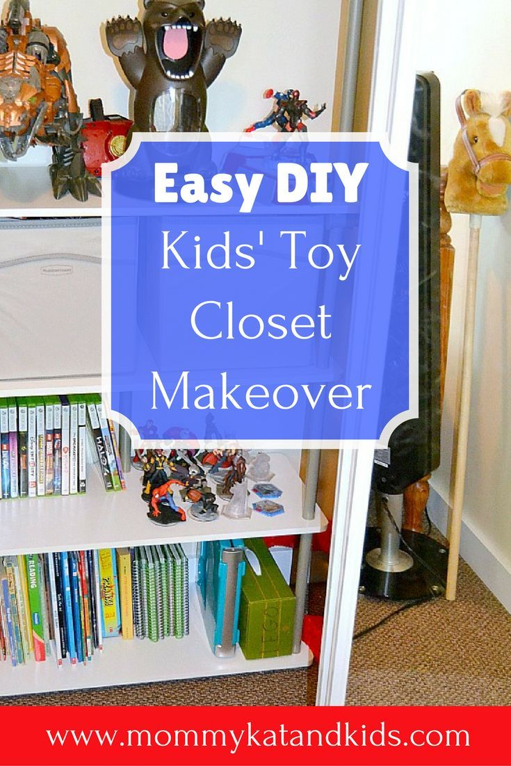 Toy closets can be completely overwhelming when they're