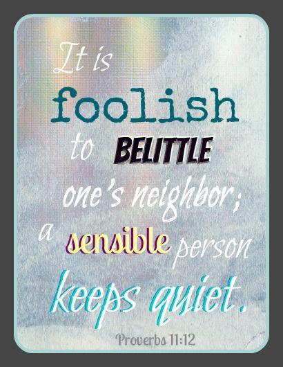 Gossip Bible Quotes