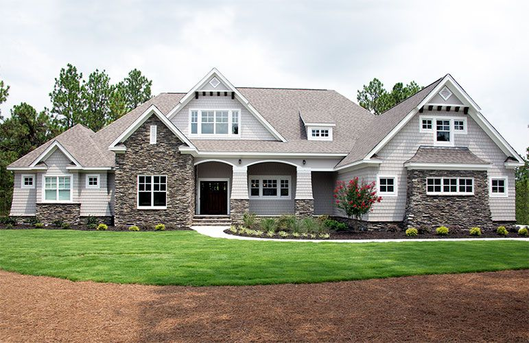 Craftsman exterior of The Markham home design 1299! #WeDesignDreams
