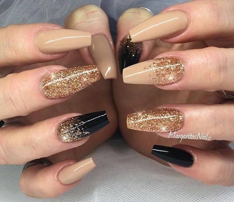 Coffin acrylic nails are very trendy despite their name. In fact, the  coffin-shaped nails are popular due to the number of reasons. - Pin By Lesley Hernandez On Nails Pinterest Manicure