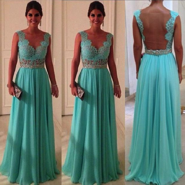 Tecido azul tiffany vestido