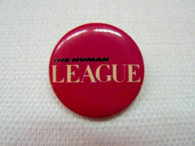 #Vintage 80s The Human #League Band Logo Pink Pin / #Button / Badge,  View more on the LINK: http://www.zeppy.io/product/gb/3/237491135/