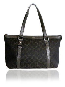 fe9c3b40eb20 Gucci Canvas Leather Gg Ssima With Zipper Brown Tote Bag. Get one of the  hottest styles of the season! The Gucci Canvas Leather Gg Ssima With Zipper  Brown ...
