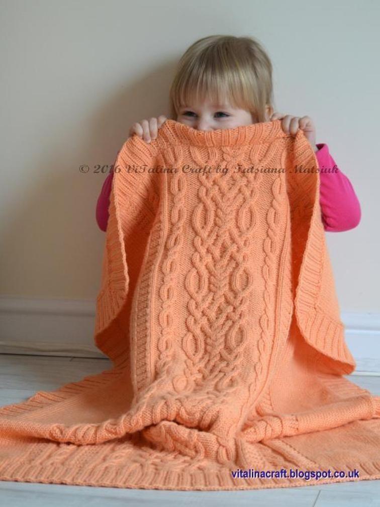 Cable Fantasy Baby Blanket   Manta, Sacos y Bebé