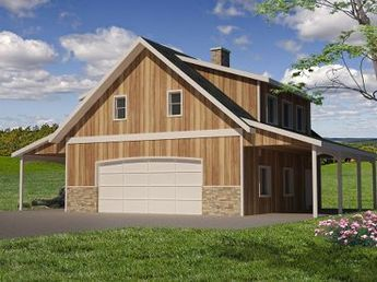 1000 sq ft 2 bed w master suite Carriage House Plan, 012G ...