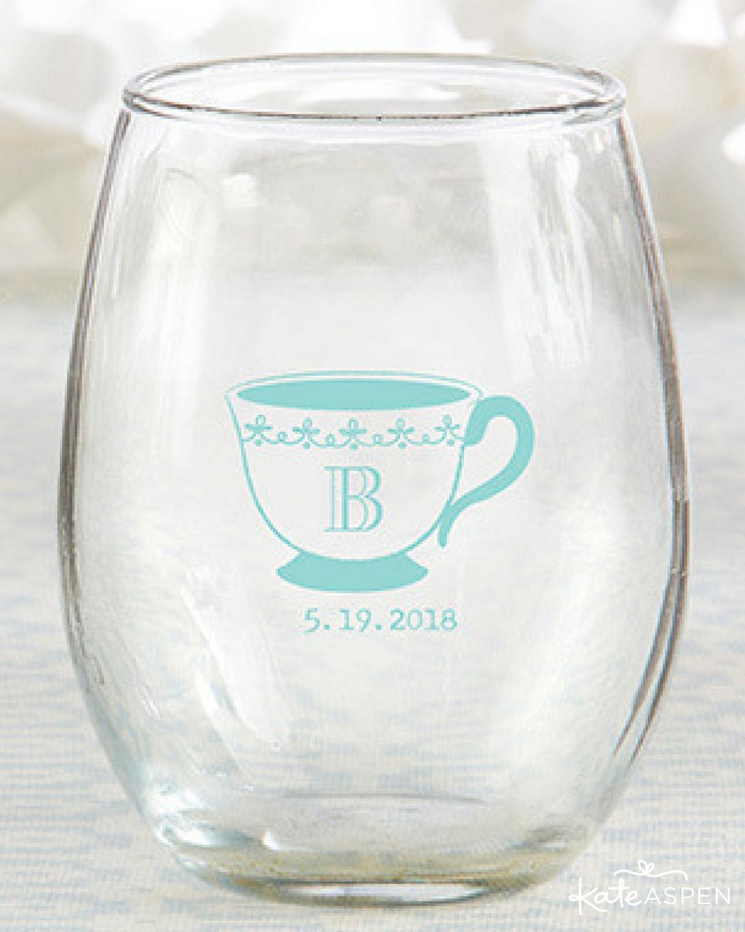 Personalized 9 Oz Stemless Wine Glass Wedding Stemless Wine Glass Wine Glass Personalized Stemless Wine Glasses