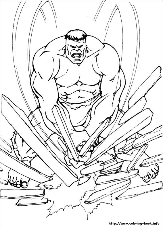 The Incredible Hulk Coloring Pages Printable