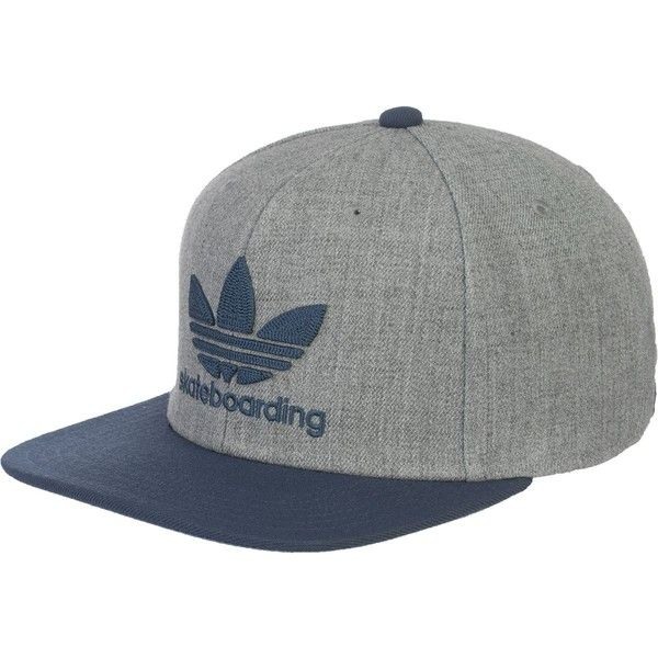 adidas Skate Snapback Hat ( 26) ❤ liked on Polyvore featuring accessories e3c91f06747