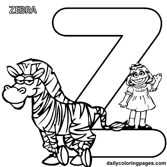 sesame street letter d coloring pages | Sesame Street Alphabet | Alphabet coloring pages, Abc ...