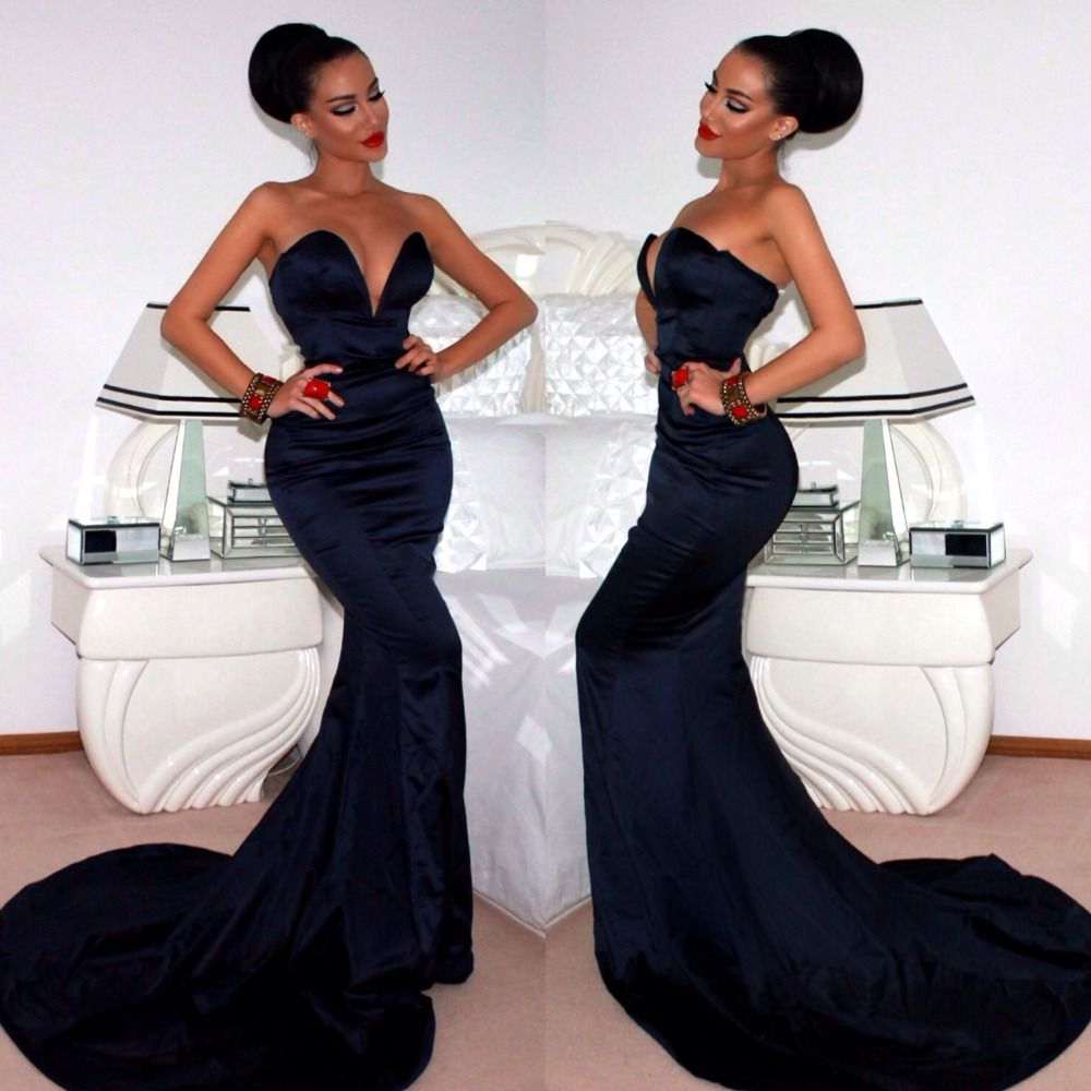 Click to buy ucuc fast delivery simple sexy formal dresses sweetheart